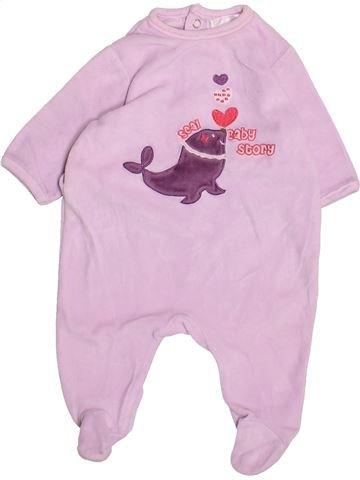 Pyjama 1 pièce fille KIABI rose 3 mois hiver #1494811_1
