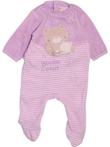 Pyjama 1 pièce fille GEMO rose 3 mois hiver #1494815_1