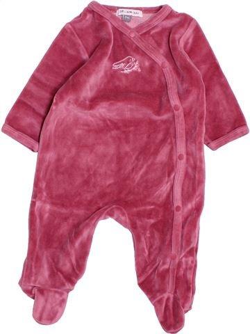 Pyjama 1 pièce fille DPAM rose 3 mois hiver #1494818_1