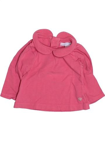 T-shirt manches longues fille OKAIDI rose 3 mois hiver #1494831_1