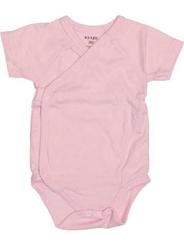 Camiseta de manga corta niña KIABI rosa 3 meses verano #1494853_1