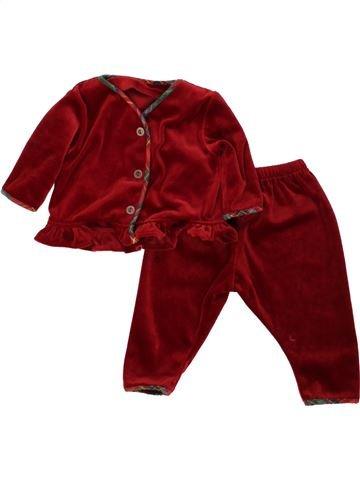Pyjama 2 pièces fille TESCO rouge 3 mois hiver #1494864_1