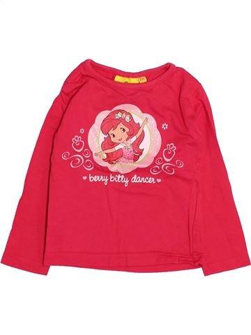T-shirt manches longues fille CHARLOTTE AUX FRAISES rose 2 ans hiver #1495025_1