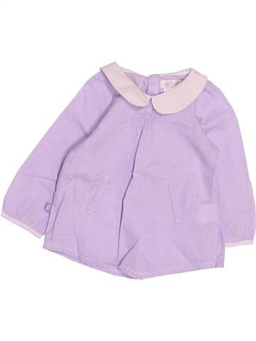 Blouse manches longues fille OKAIDI rose 3 mois hiver #1495026_1