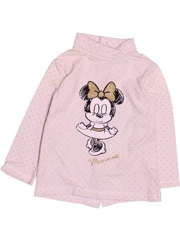 Camiseta de cuello alto niña DISNEY rosa 6 meses invierno #1495057_1