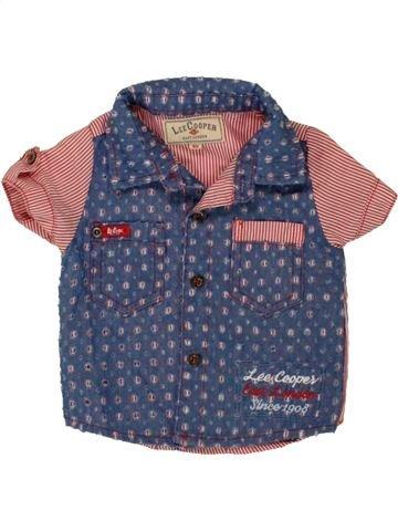 Chemise manches courtes garçon LEE COOPER violet 6 mois été #1495062_1