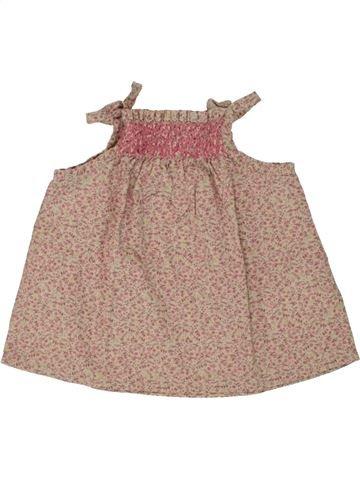Blusa de manga corta niña VERTBAUDET marrón 12 meses verano #1495346_1