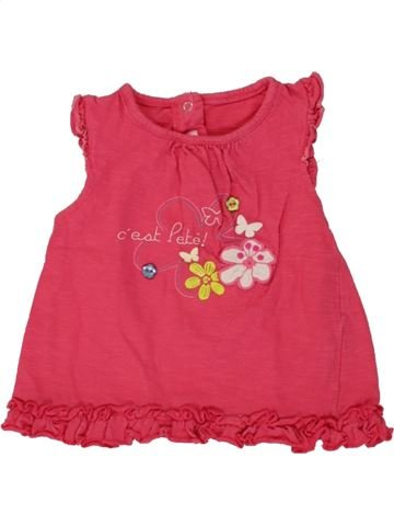 Camiseta de manga corta niña GEMO rosa 12 meses verano #1495351_1