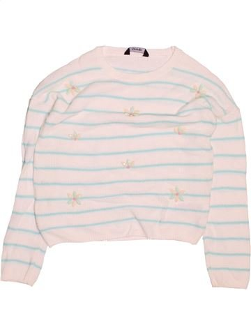 Pull fille GEORGE blanc 8 ans hiver #1495446_1