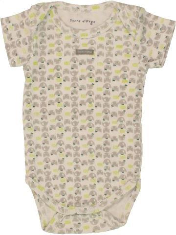 Camiseta de manga corta niña SUCRE D'ORGE blanco 3 meses verano #1495482_1