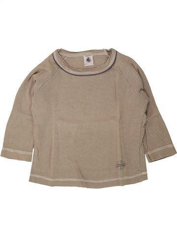 T-shirt manches longues garçon PETIT BATEAU beige 2 ans hiver #1495510_1