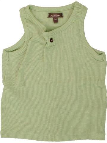Top - Camiseta de tirantes niño BOUT'CHOU verde 9 meses verano #1495574_1