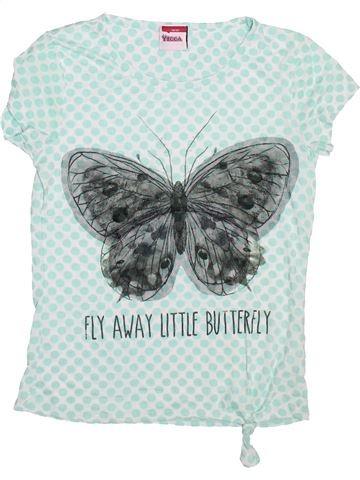 T-shirt manches courtes fille YIGGA vert 14 ans été #1496030_1