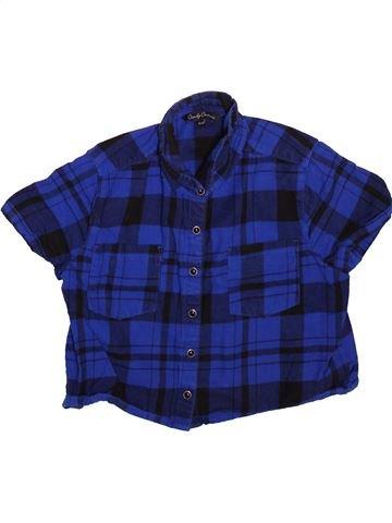 Blouse manches courtes fille CANDY COUTURE bleu 11 ans été #1496364_1
