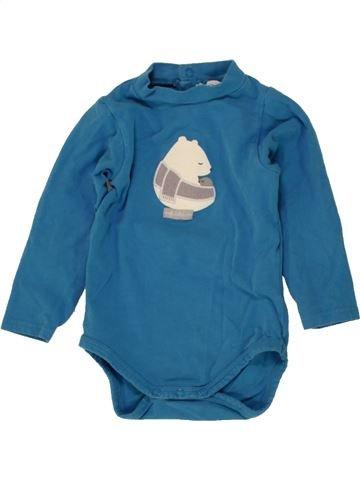 T-shirt manches longues garçon OKAIDI bleu 12 mois hiver #1496444_1