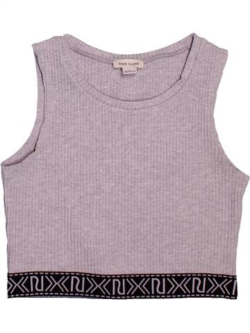 Camiseta sin mangas niña RIVER ISLAND gris 12 años verano #1496522_1
