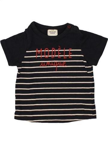 T-shirt manches courtes garçon TAPE À L'OEIL noir 6 mois été #1496547_1