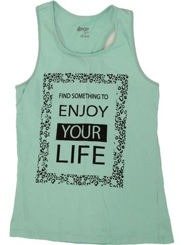 Camiseta sin mangas niña EPOP verde 12 años verano #1496617_1