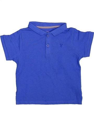 Polo manches courtes garçon OKAIDI bleu 12 mois été #1496789_1