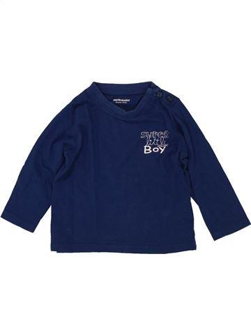 T-shirt manches longues fille VERTBAUDET bleu 12 mois hiver #1496989_1