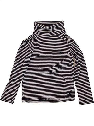 Camiseta de cuello alto niña OKAIDI beige 4 años invierno #1497212_1