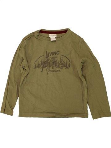 Camiseta de manga larga niño CYRILLUS marrón 4 años invierno #1497223_1