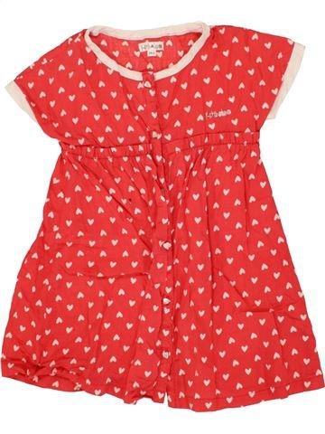 Vestido niña KIMBALOO rojo 2 años verano #1497259_1