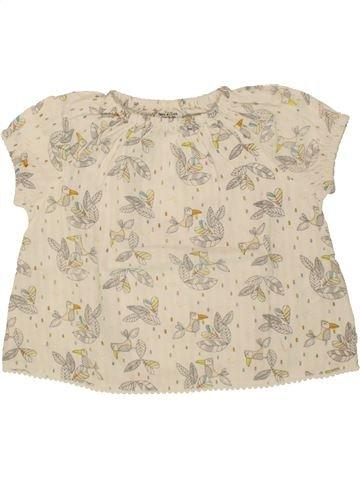 Blusa de manga corta niña TAPE À L'OEIL blanco 12 meses verano #1497303_1
