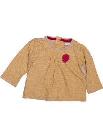 T-shirt manches longues fille MAMAS & PAPAS orange 6 mois hiver #1497334_1