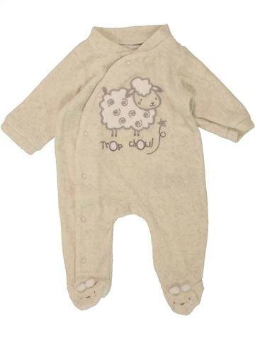 Pijama de 1 pieza niño GEMO blanco 1 mes invierno #1497345_1