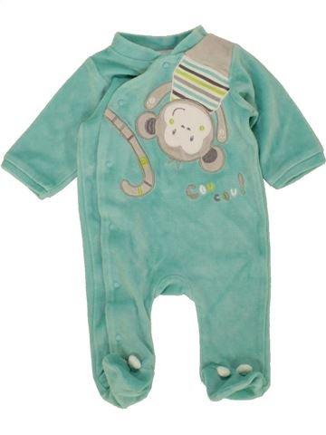 Pyjama 1 pièce garçon GEMO bleu 1 mois hiver #1497356_1