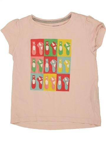 T-shirt manches courtes fille VERTBAUDET blanc 5 ans été #1497424_1