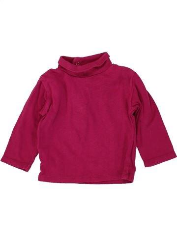 Camiseta de cuello alto niña KIABI violeta 9 meses invierno #1497465_1