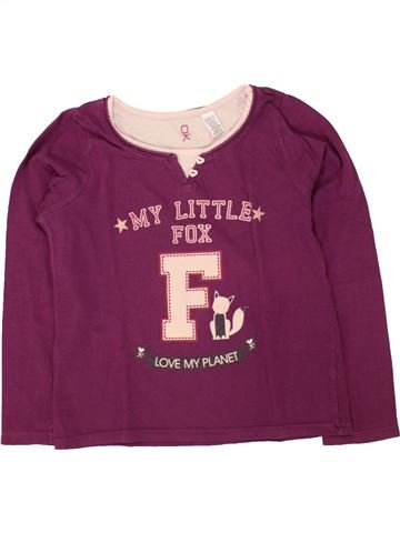 T-shirt manches longues fille OKAIDI violet 6 ans hiver #1497681_1