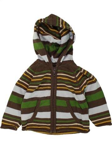 Chaleco niño GRAIN DE BLÉ marrón 6 meses invierno #1497815_1