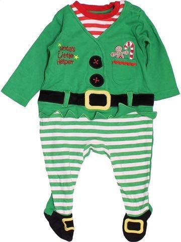 Pyjama 1 pièce garçon GEORGE vert 6 mois hiver #1497826_1
