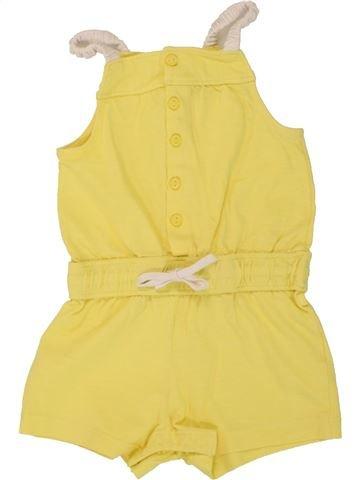 Combinaison courte fille OKAIDI jaune 18 mois été #1497913_1
