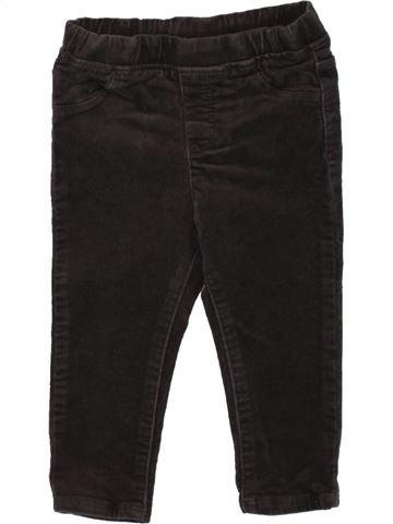 Pantalón niña OKAIDI negro 18 meses invierno #1497919_1
