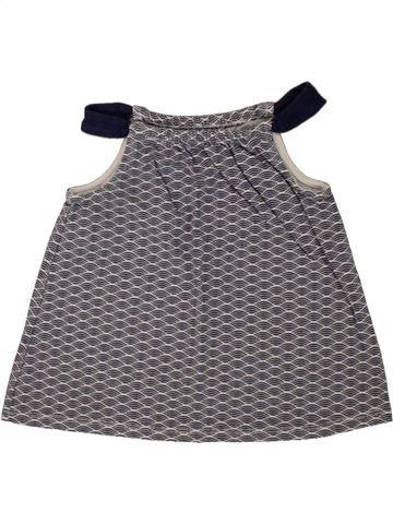 T-shirt sans manches fille OKAIDI gris 18 mois été #1497995_1