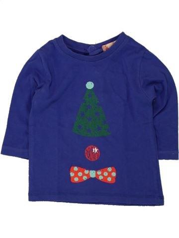 T-shirt manches longues garçon DPAM bleu 3 mois hiver #1498071_1