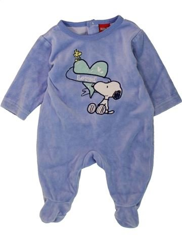 Pyjama 1 pièce garçon GENERATION Z bleu 1 mois hiver #1498165_1