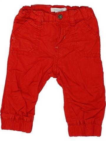 Pantalón niño OKAIDI rojo 6 meses invierno #1498457_1