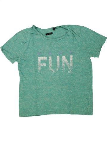 T-shirt manches courtes garçon IKKS vert 6 ans été #1498553_1
