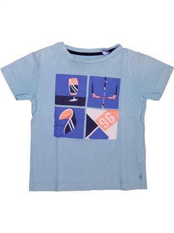 T-shirt manches courtes garçon OKAIDI bleu 5 ans été #1498583_1