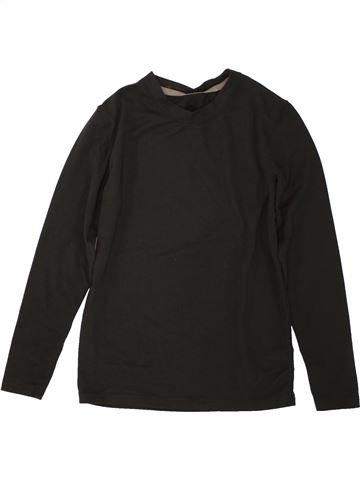 T-shirt manches longues unisexe GEORGE noir 8 ans hiver #1498645_1