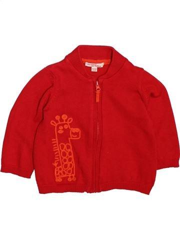Gilet garçon DPAM rouge 12 mois hiver #1498670_1