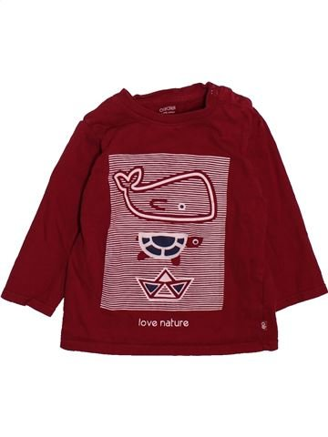T-shirt manches longues garçon OKAIDI marron 12 mois hiver #1498679_1