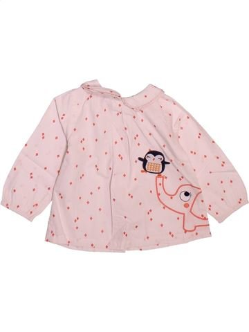 Blouse manches longues fille DPAM rose 12 mois hiver #1498906_1