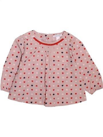 Blusa de manga larga niña OKAIDI rosa 12 meses invierno #1498907_1