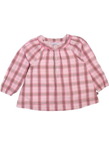 Blouse manches longues fille OKAIDI rose 12 mois hiver #1498908_1